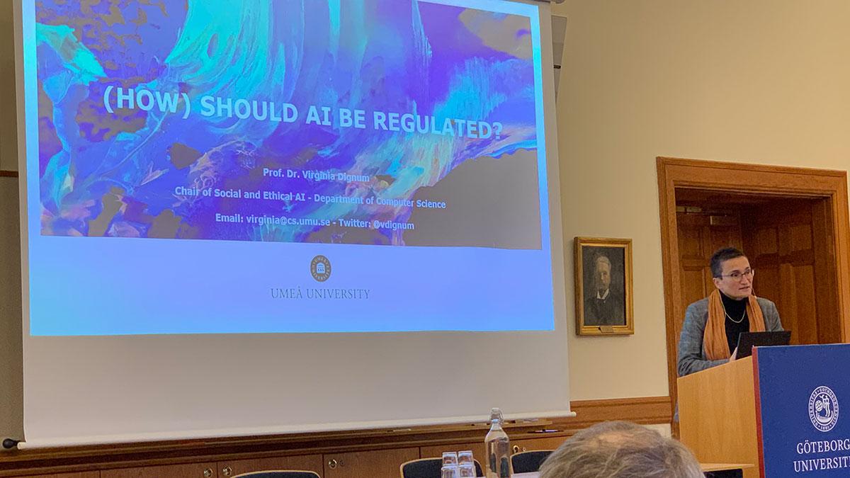 Virginia Dignum föreläser på Göteborgs Universitet om etisk och ansvarsfull anvädnings av AI