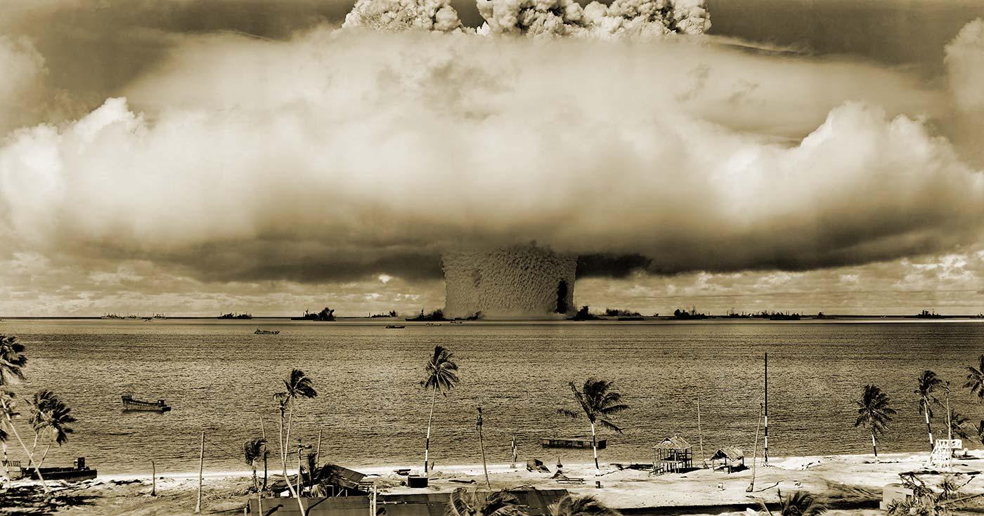 Det kända svampformade molnet som uppstår vid en kärnvapensexplosion