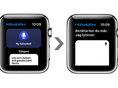 Prototyp av app för Apple Watch